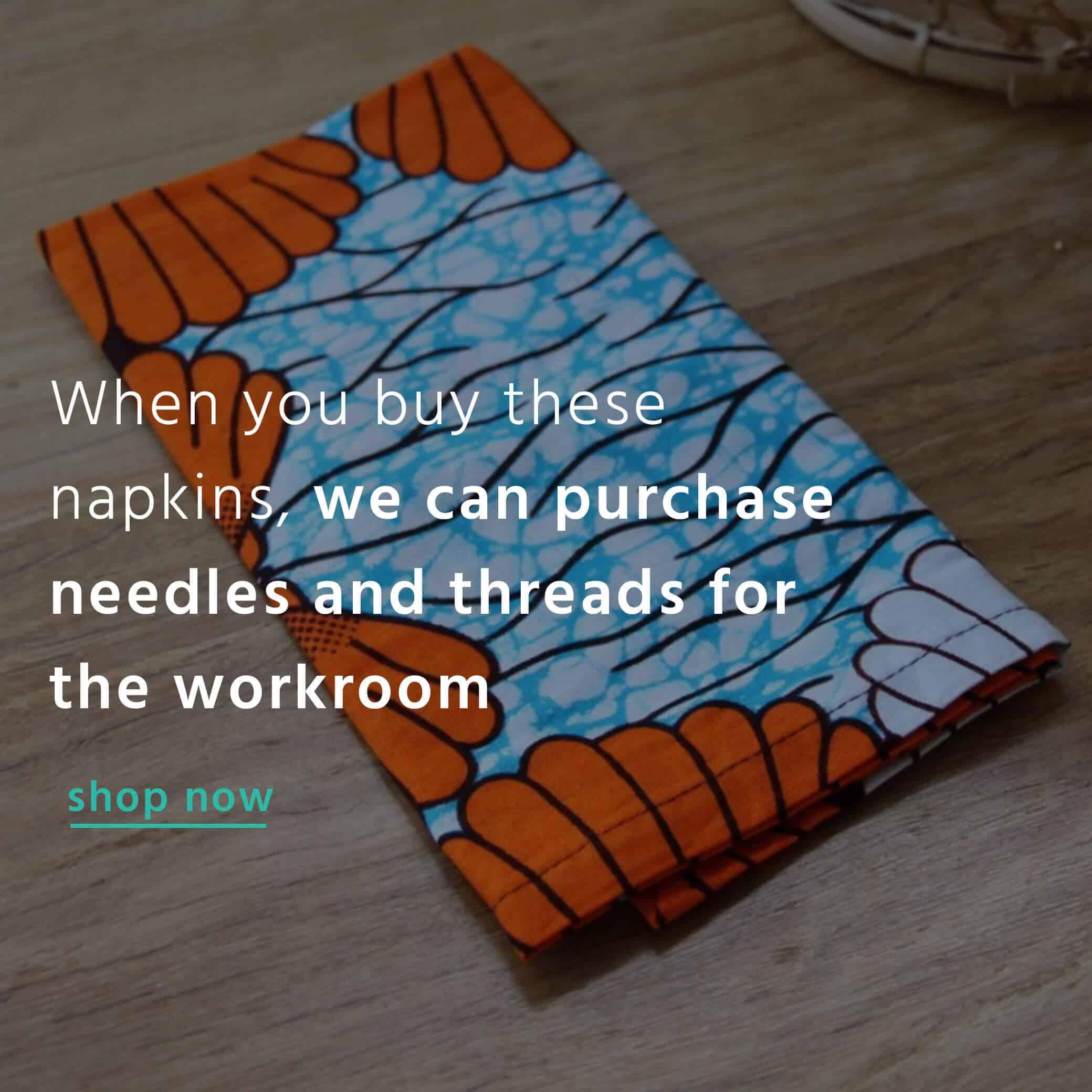 Buy a napkin bibi&me and create change