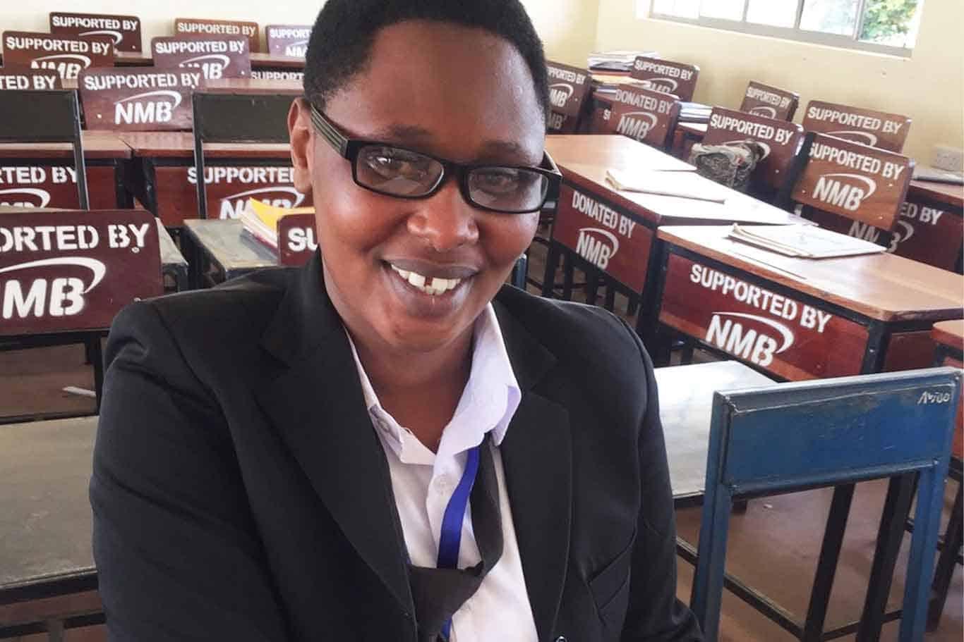 Judith a teacher at the Tanzanian Teachers' Training College
