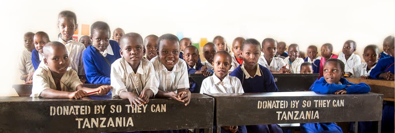 Tanzanian school children in class