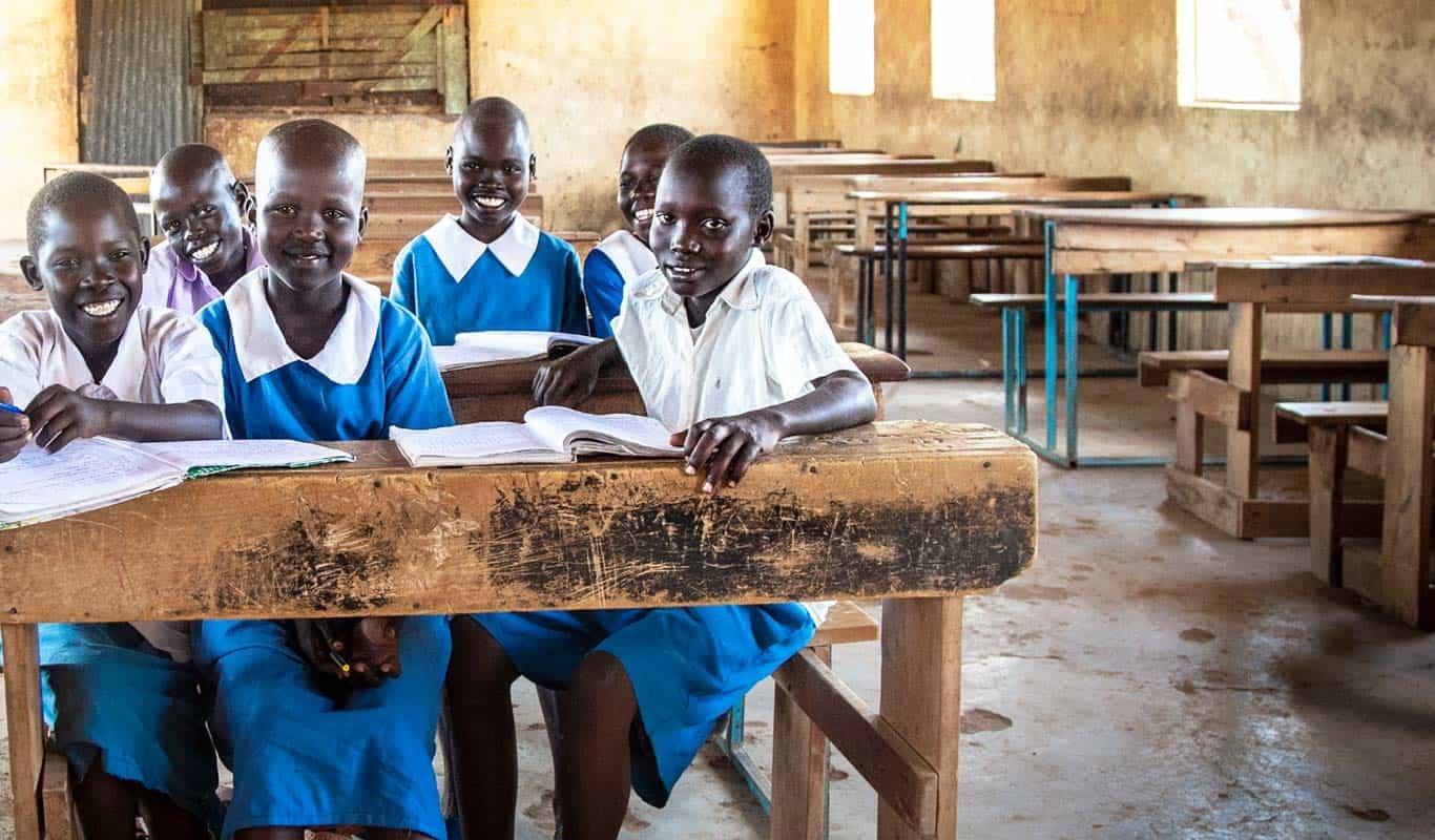 Kenyan Students at school