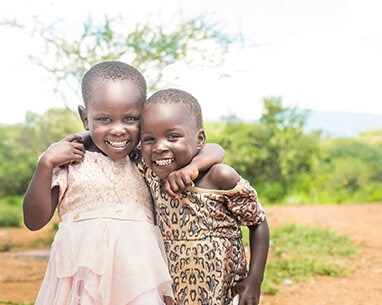 Little Kenyan Girls smiling