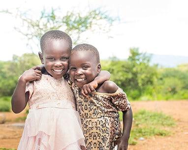 Little Kenyan Girls smiling