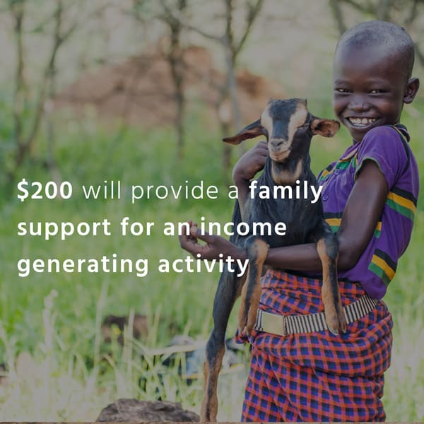 Impact Tile. $200 will provide a family support for an income generating activity