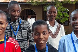 Tanzanian Exam students