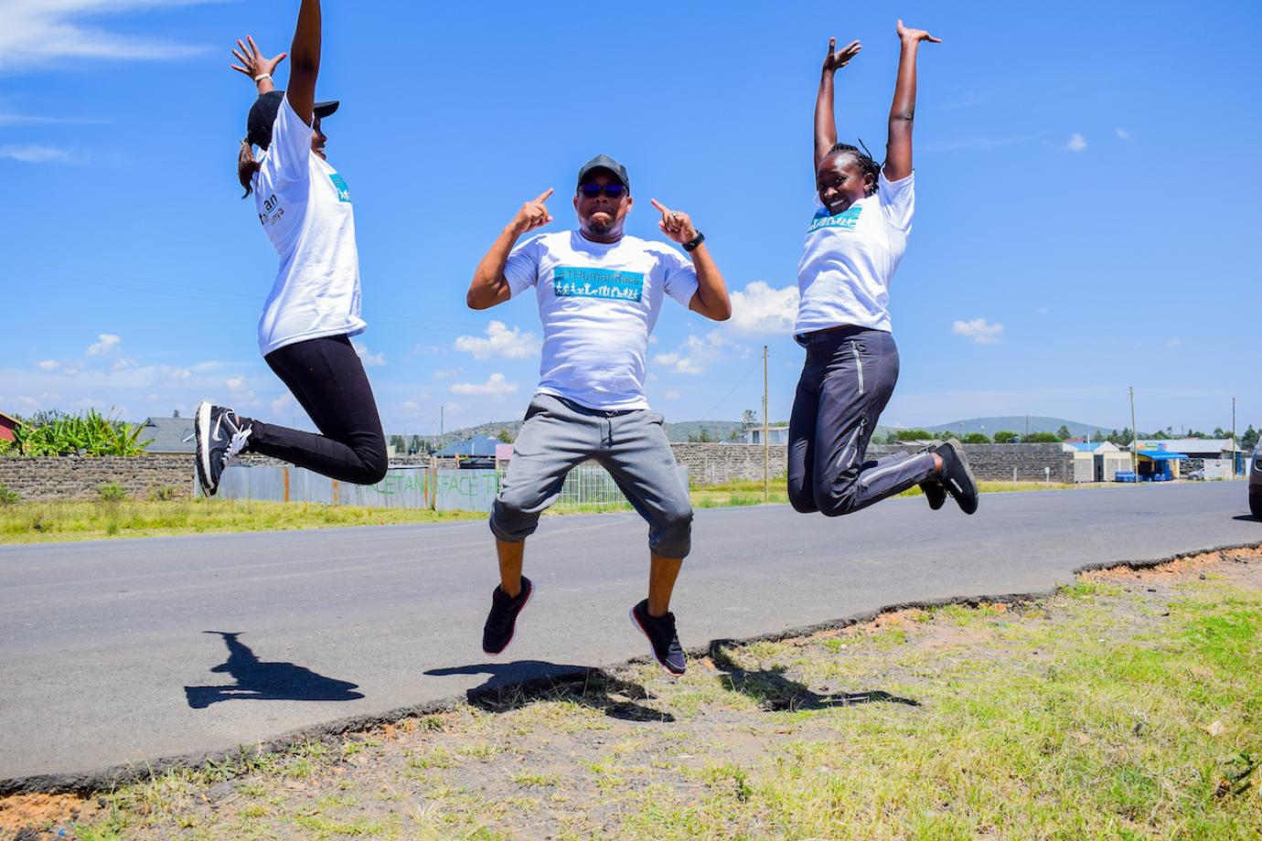 Team Jumps for Joy